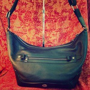 Leather black Hunting World women's handbag 🐘🐘🐘